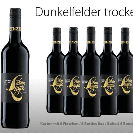 Dunkelfelder trocken, 6er, Weingut, Zöller-Lagas, trocken, Karton, Rotwein