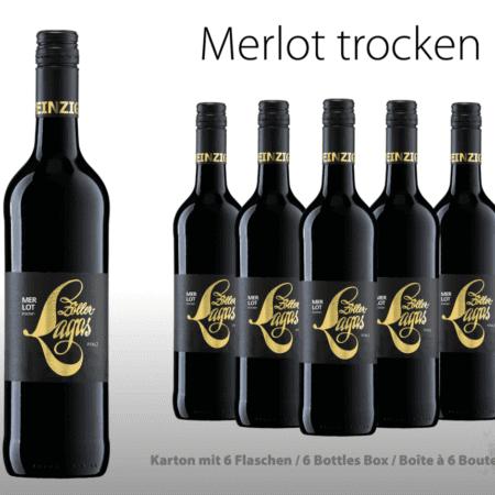 Merlot, 6er, Weingut, Zöller-Lagas, trocken, Karton, Merlot, Rotwein