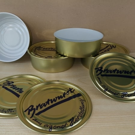 Wurstdosen 99-33 + Deckel, Bratwurst