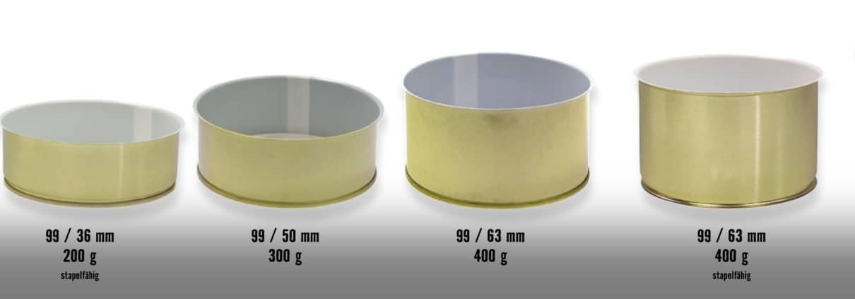 Konservendosen größen, 99er Dosen, kaufen online