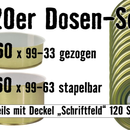 Dosen Set, Konservendosen, 99-63, 99-33