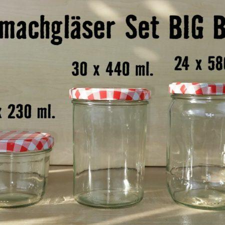 Einmachgläser Set Big Box, Wurstglas, Sturzglas, TO 82