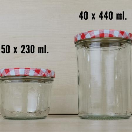 Wurstgläser, 230ml, 440ml