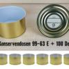 Konservendosen leer, mit Deckel, 99-63 E