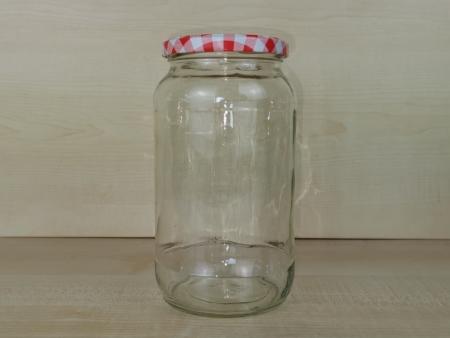 Einmachglas 1062ml, Weithalsglas, Rundglas