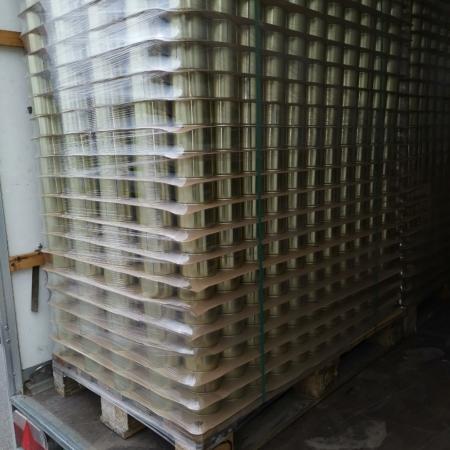Palette Konservendosen, 99-63, Weißblechdosen, stapelbar