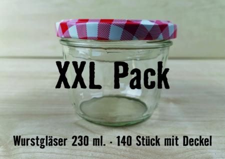 XXL Pack 230ml, Wurstglas 230ml