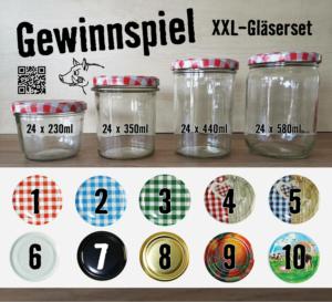 Gewinnspiel Gläser, PFALZ BBQ, Einmachgläser