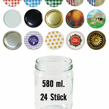 Einmachglas 580 ml, Einmachglas, 580 ml, TO 82, PFALZ BBQ